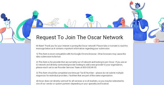 Help Assure Your Doctor is in Oscar's Brand New Philadelphia Network!
