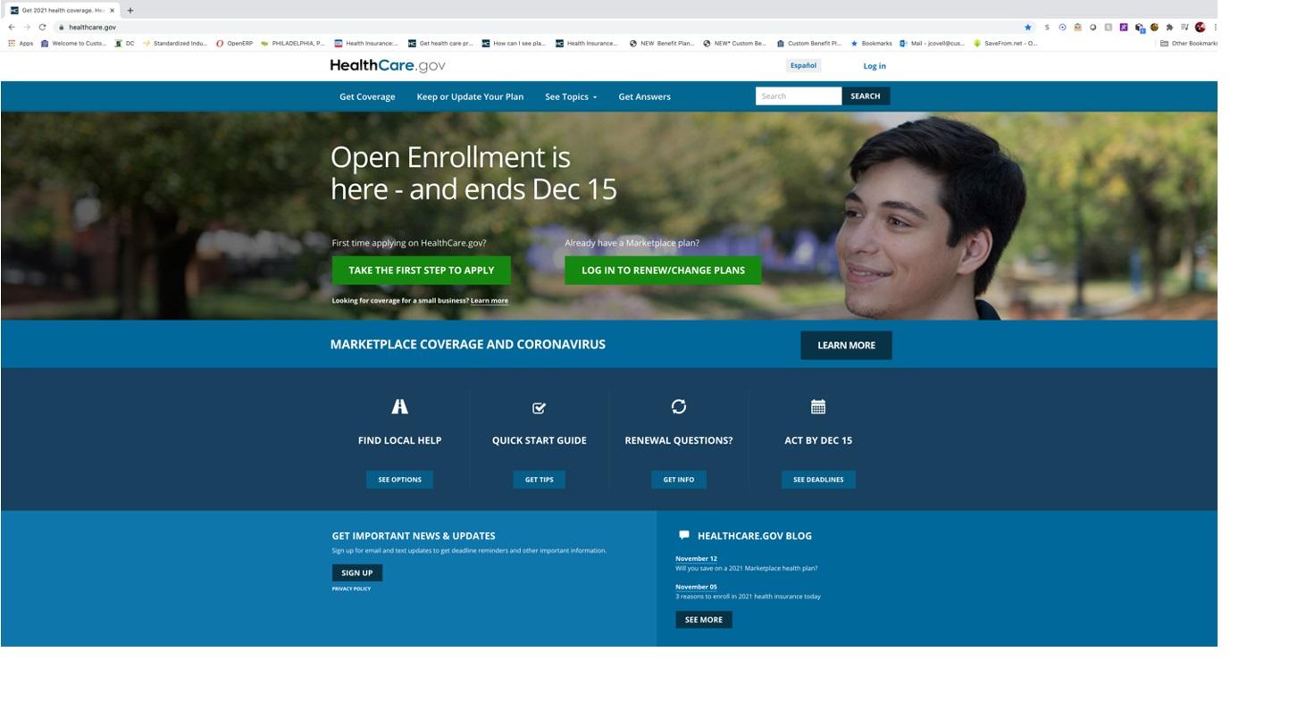 Healthcare.gov Help - Step 1