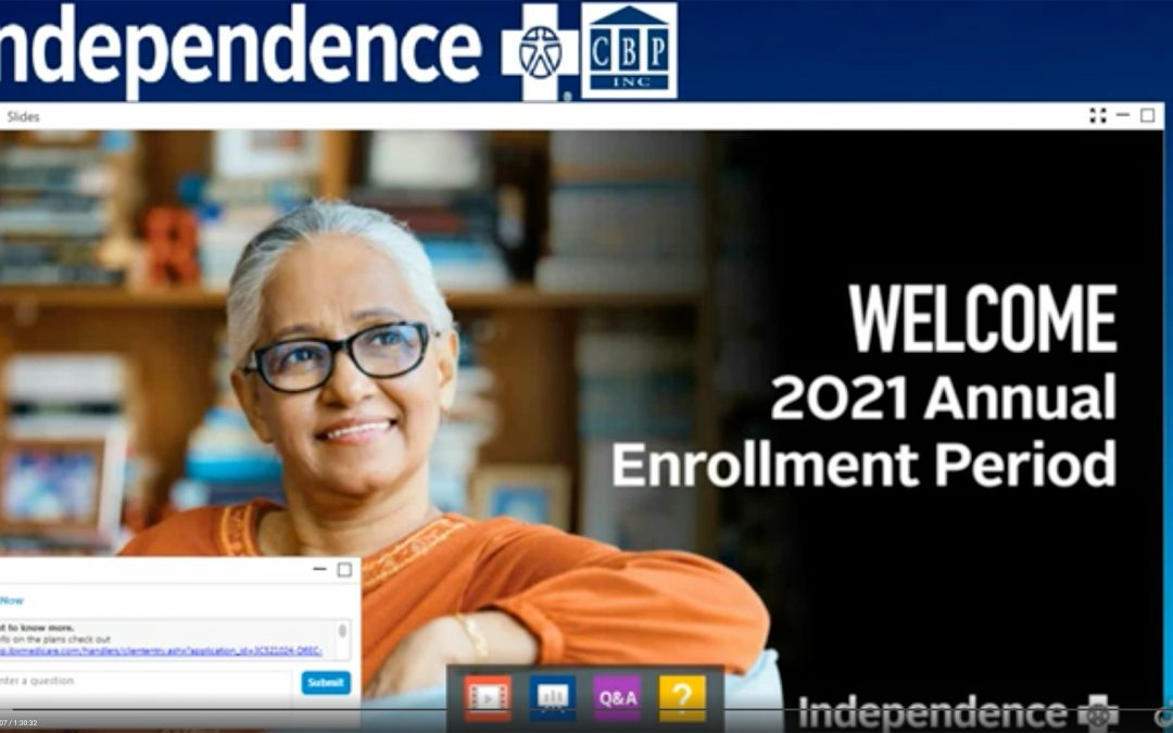 Independence Blue Cross – Virtual Sales Presentation For Plan Year 2021